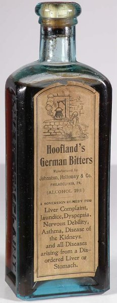 hooflands bitters label a