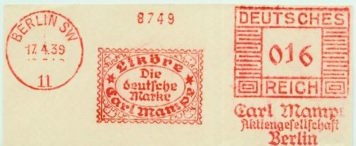 carl mampe stamp 1939