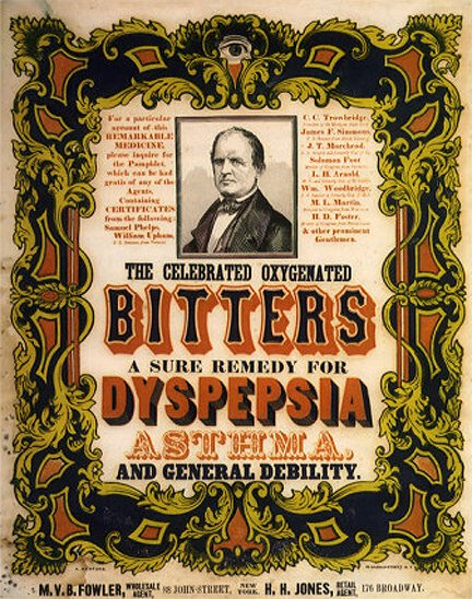 oxygenated bitters ad 1847