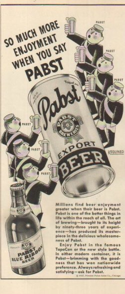 pabst beer ad