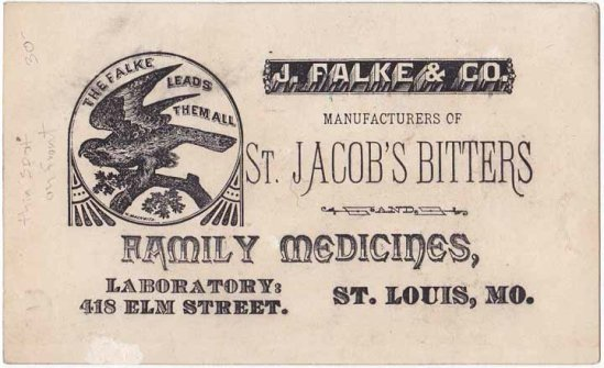 st. jacob trade card