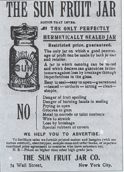 sun fruit jar ad