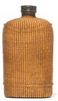 wicker covered flask d